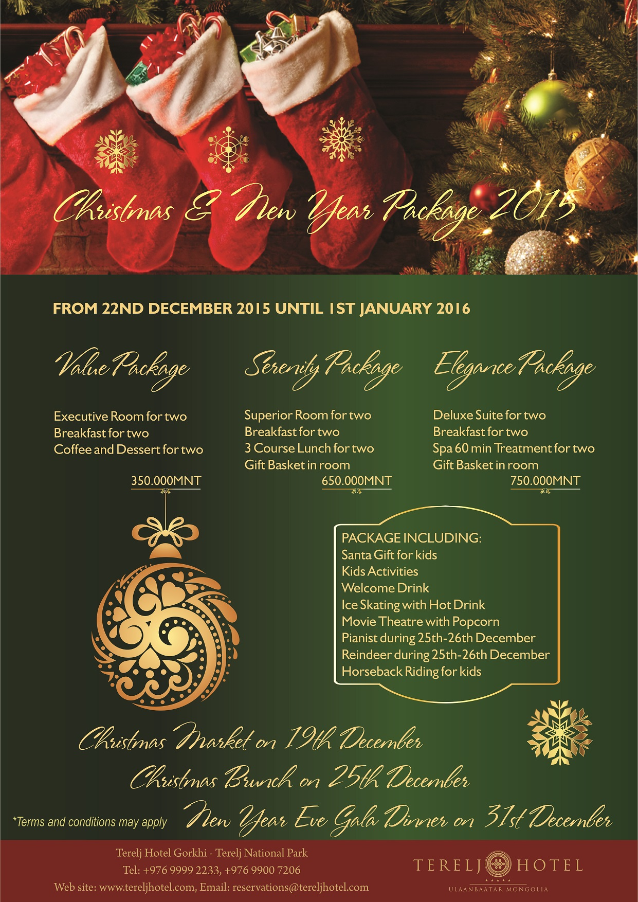 Christmas Hotel Packages